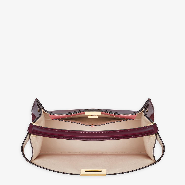 FENDI PEEKABOO X-LITE LARGE - Burgundy leather bag - view 6 detail
