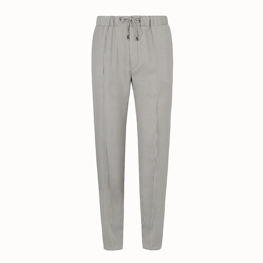 FENDI TROUSERS - Grey fabric trousers - view 1 detail