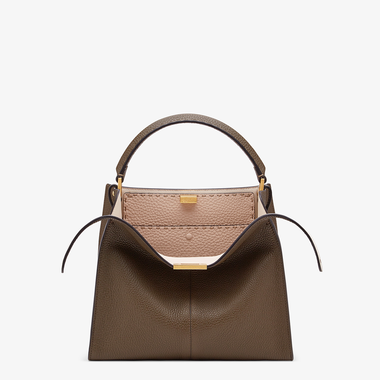 FENDI PEEKABOO X-LITE MEDIUM - Brown Selleria bag - view 1 detail
