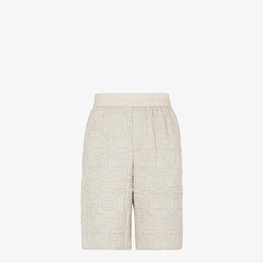 FENDI BERMUDAS - White nylon pants - view 1 detail