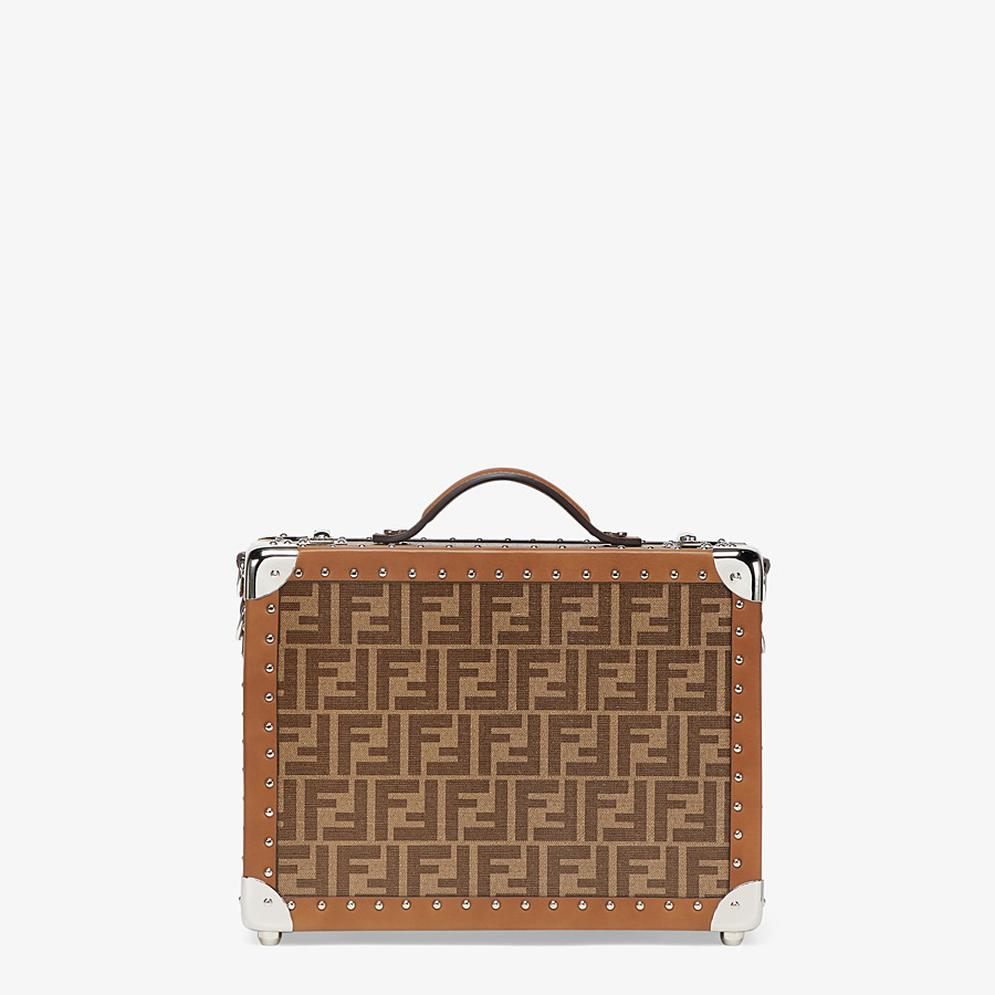 FENDI RIGID SUITCASE SMALL - Brown fabric suitcase - view 1 detail