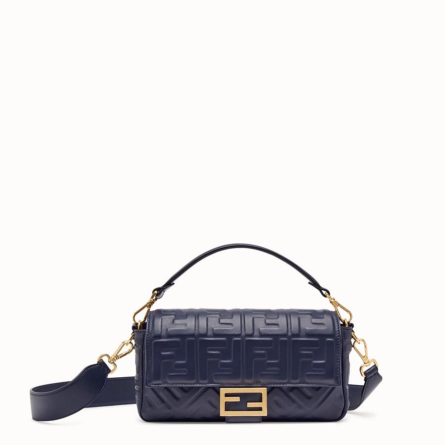FENDI BAGUETTE - Blue nappa leather bag - view 1 detail