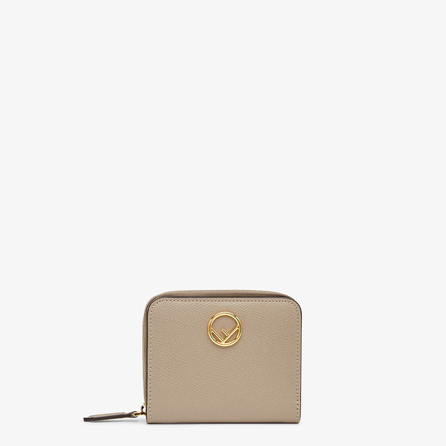 FENDI MEDIUM ZIP-AROUND - Beige leather wallet - view 1 detail