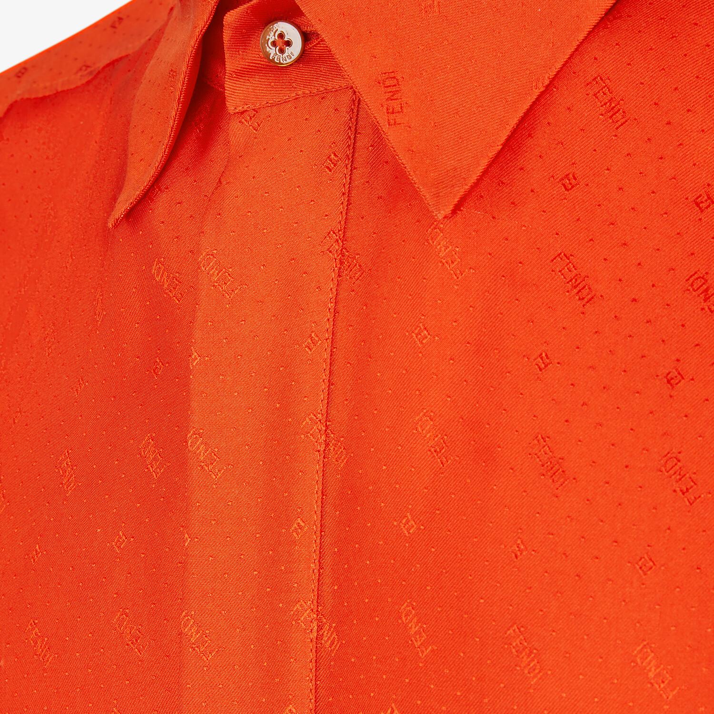 FENDI SHIRT - Red silk shirt - view 3 detail