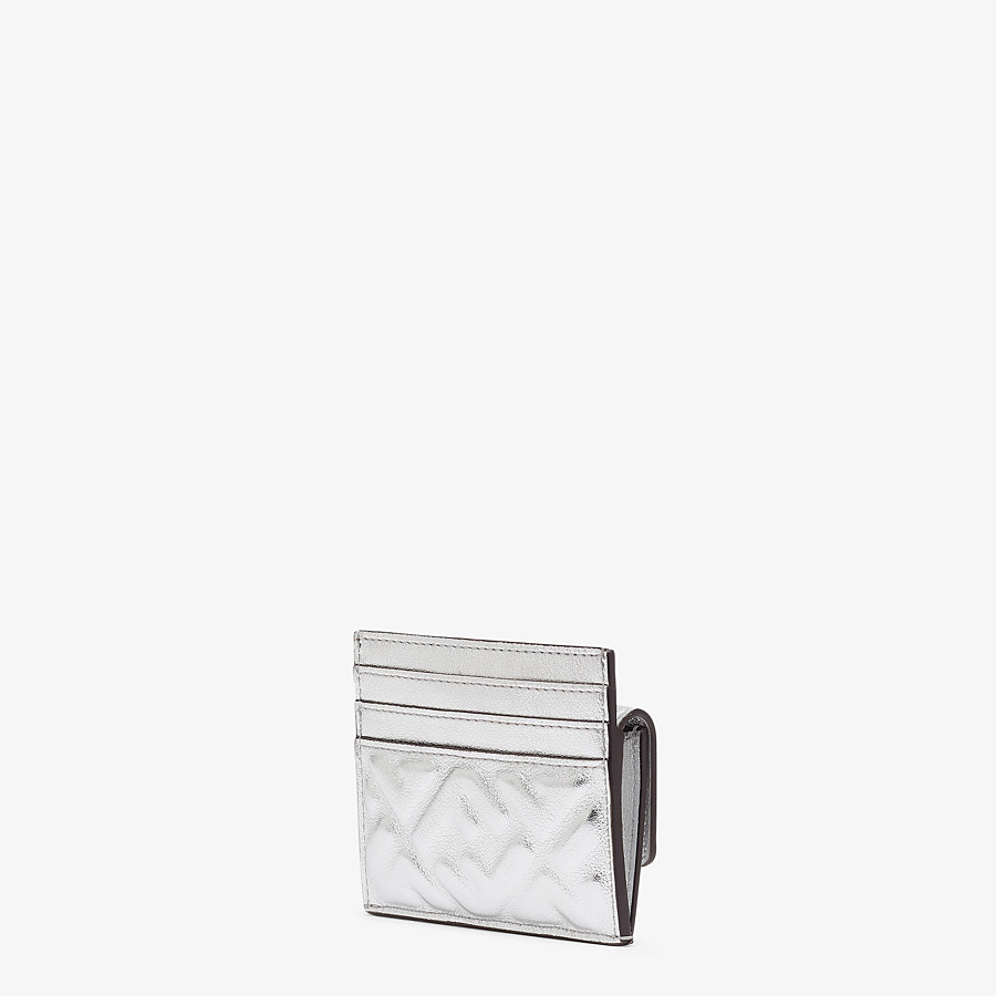 FENDI CARD HOLDER - Silver leather cardholder - view 2 detail