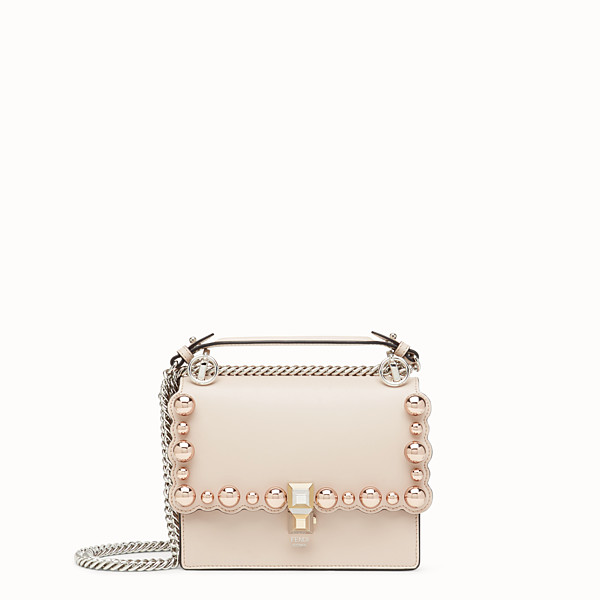FENDI KAN I SMALL - Pink leather minibag - view 1 small thumbnail