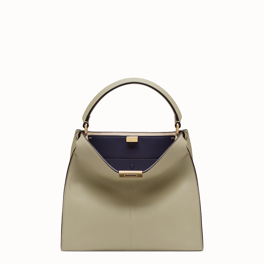 FENDI PEEKABOO X-LITE REGULAR - Sac en cuir beige - view 3 detail