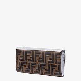 FENDI LANGES PORTEMONNAIE - Portemonnaie aus Leder in der Farbe Silber - view 2 thumbnail