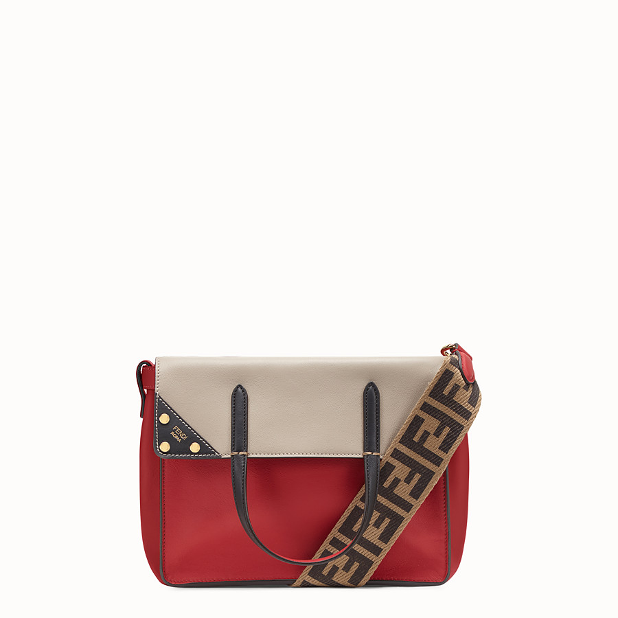 FENDI FENDI FLIP REGULAR - Red leather bag - view 1 detail