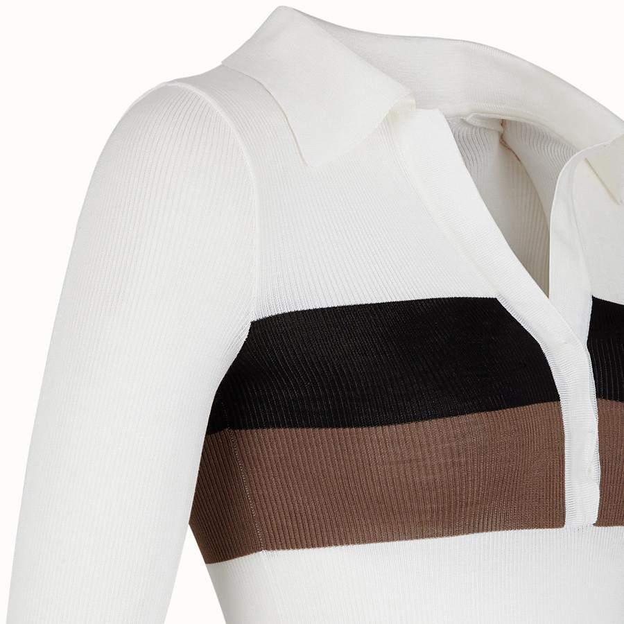 FENDI MAGLIA - Maglia in seta bianca - vista 3 dettaglio
