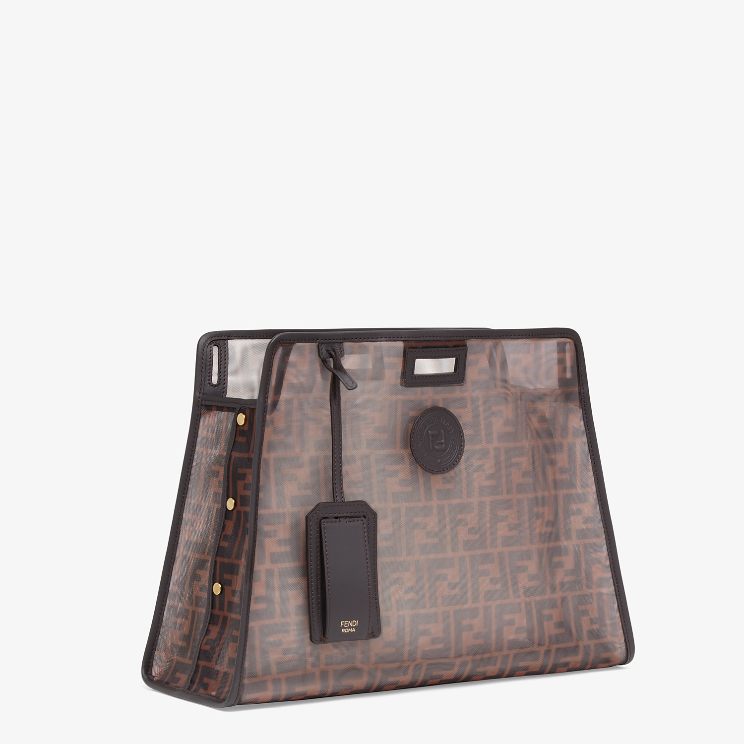 FENDI MEDIUM PEEKABOO DEFENDER - Brown mesh Peekaboo cover - view 2 detail