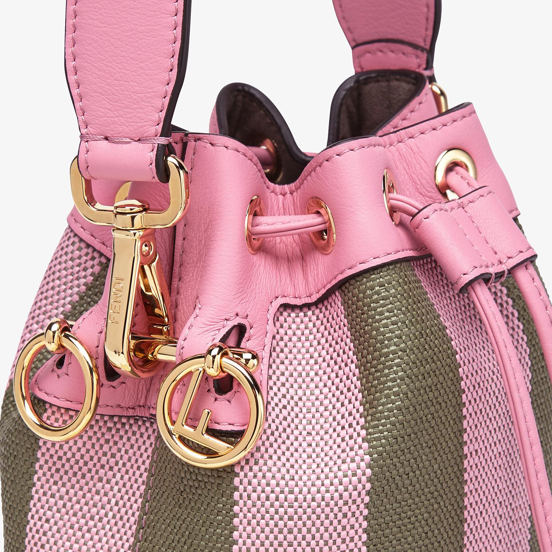 FENDI MON TRESOR - Pink raffia mini bag - view 6 detail