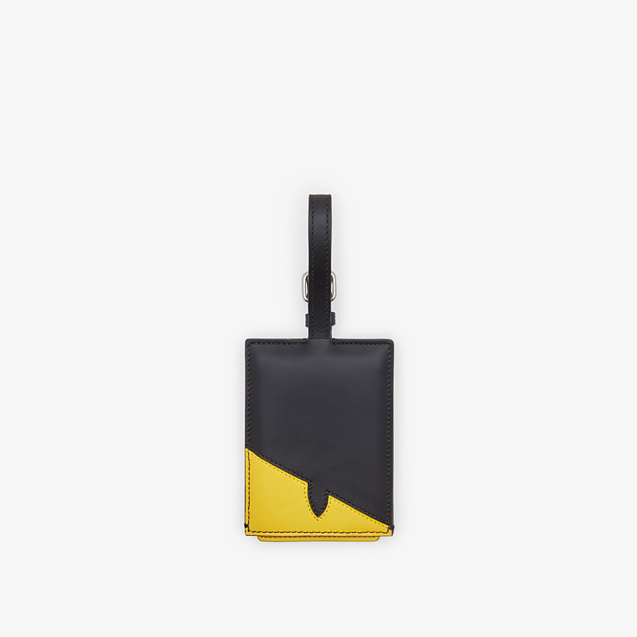 FENDI ADDRESS CARD - Travel tag in yellow leather - view 1 detail