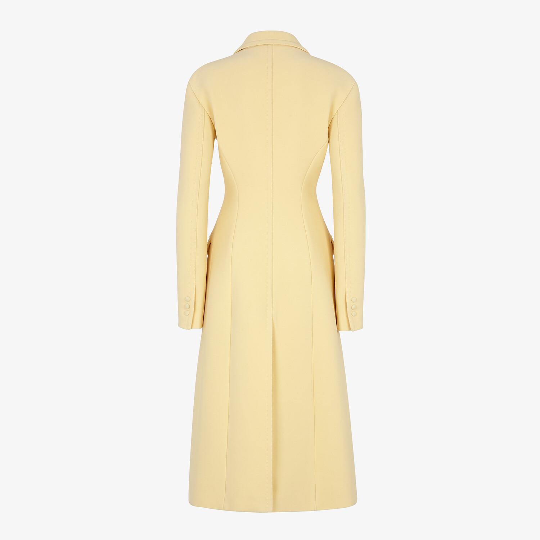 FENDI COAT - Yellow wool coat - view 2 detail
