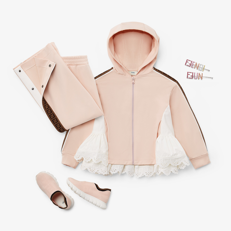 FENDI JUNIOR TROUSERS - Pink tech fabric junior trousers - view 4 detail
