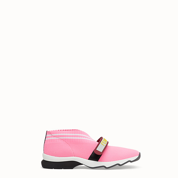 FENDI SNEAKERS - Pink fabric sneakers - view 1 small thumbnail