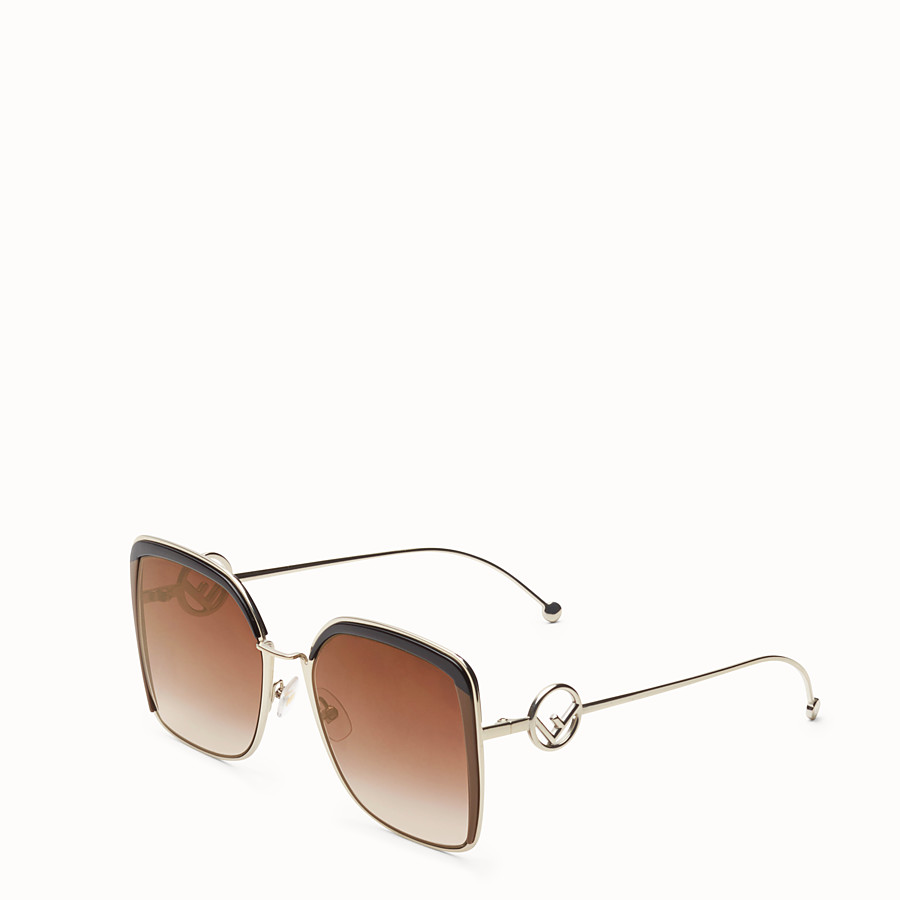 FENDI F IS FENDI - Gold-color sunglasses - view 2 detail