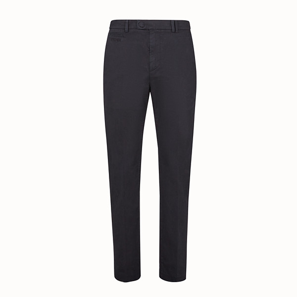FENDI PANTS - Black cotton pants - view 1 small thumbnail