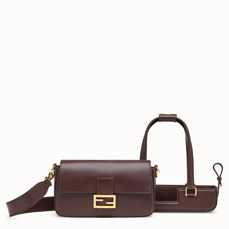 FENDI BAGUETTE WITH BASKET CASE - Brown leather bag - view 3 detail