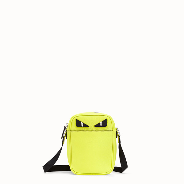 FENDI SMALL MESSENGER - Cross-body in yellow Romano leather - view 1 small thumbnail