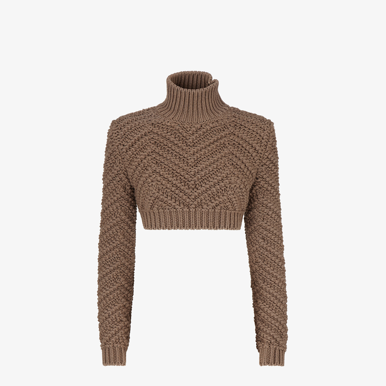 FENDI PULLOVER - Brown wool jumper - view 1 detail