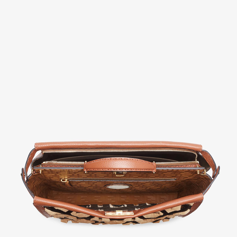 FENDI PEEKABOO ICONIC MEDIUM - Brown leather bag - view 4 detail