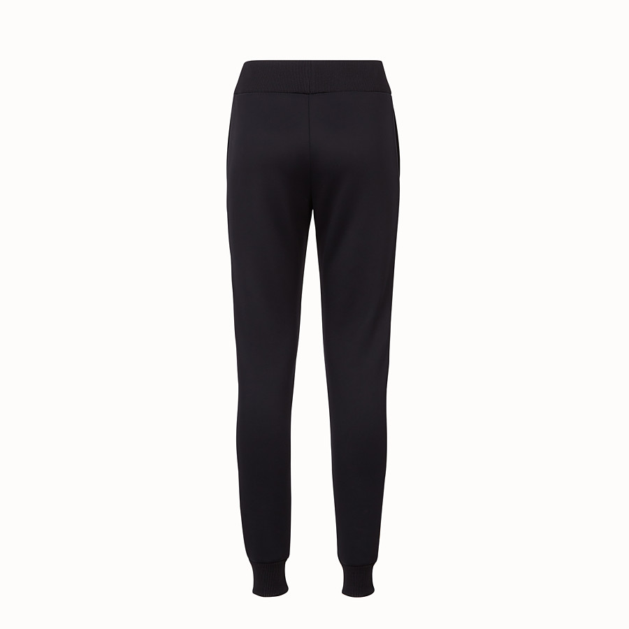 FENDI TROUSERS - Black fabric jogging trousers - view 2 detail