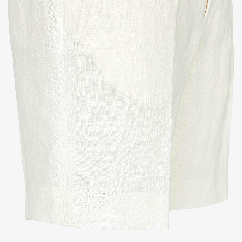 FENDI BERMUDAS - Natural hemp fabric pants - view 3 detail