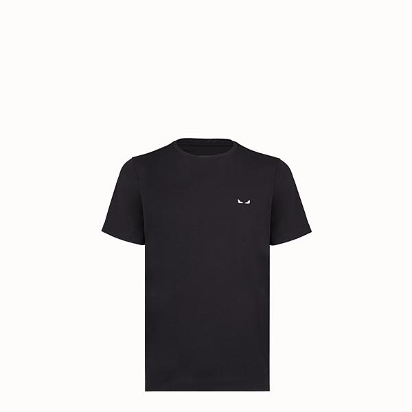 FENDI T-SHIRT - Black cotton T-shirt - view 1 small thumbnail