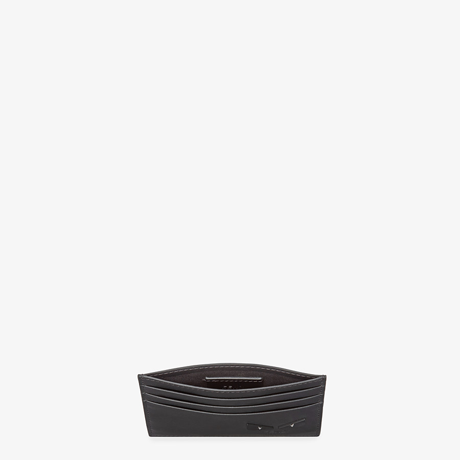 FENDI CARD HOLDER - Black leather card holder with six slots - view 3 detail