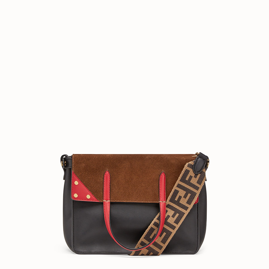 FENDI FENDI FLIP REGULAR - Multicolour leather and suede bag - view 1 detail