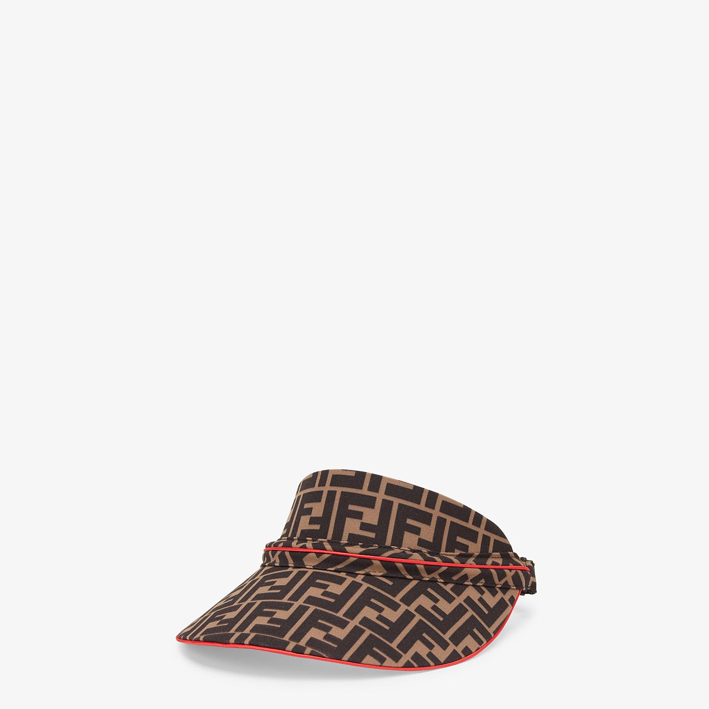 FENDI FENDIRAMA VISOR - Multicolor cotton visor - view 1 detail