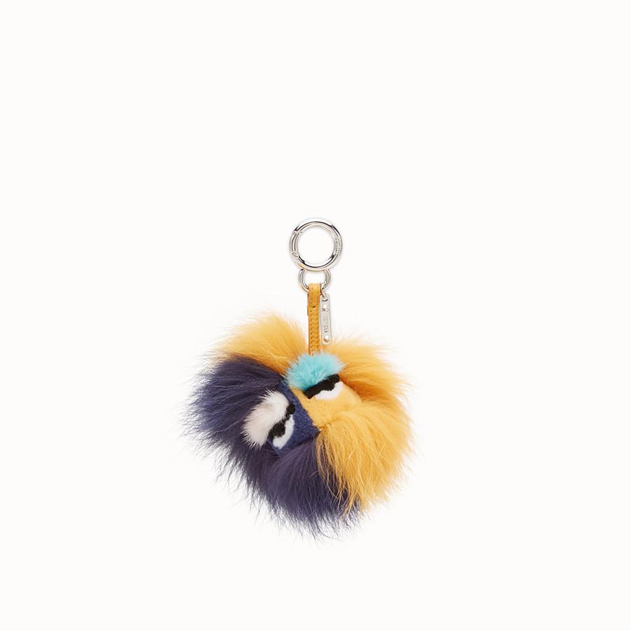 FENDI BLUEMINOUS BAG BUG - Multicolour fur charm - view 1 detail