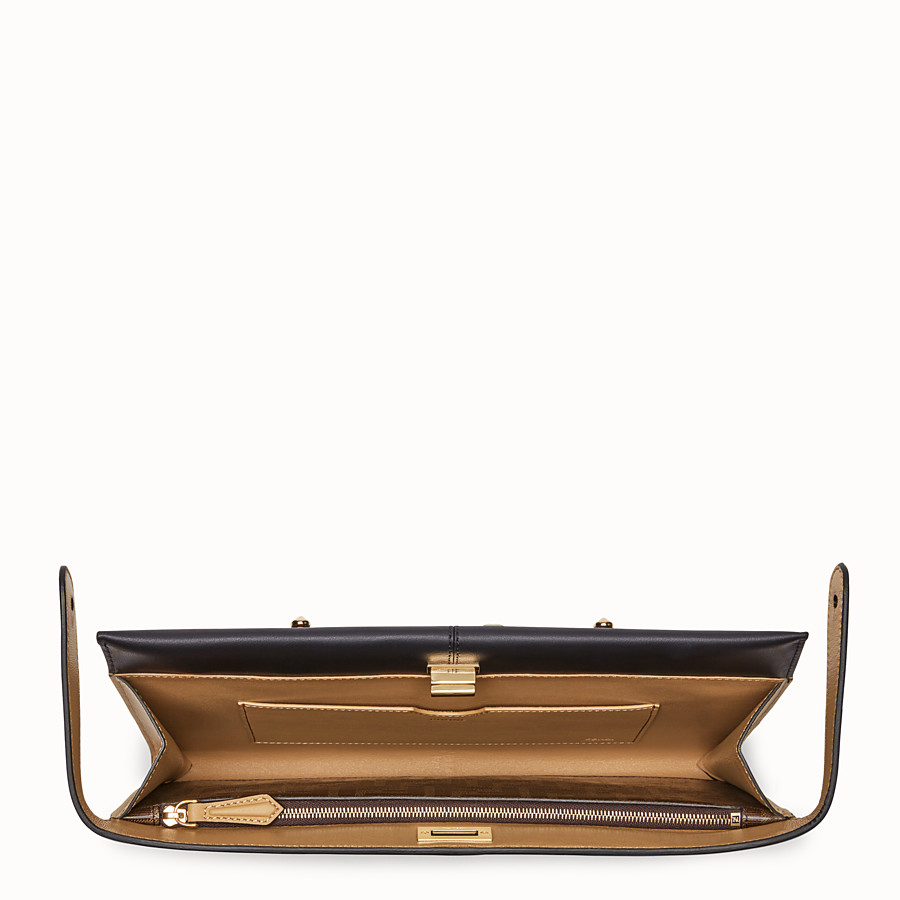 FENDI CLUTCH WALLET - Black leather clutch bag - view 4 detail
