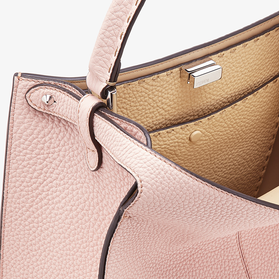 FENDI PEEKABOO X-LITE MEDIUM - Pink leather bag - view 6 detail