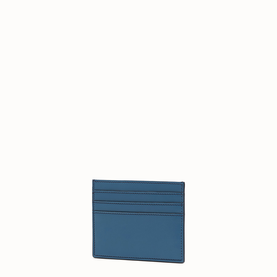 FENDI CARD HOLDER - Blue leather cardholder - view 2 detail
