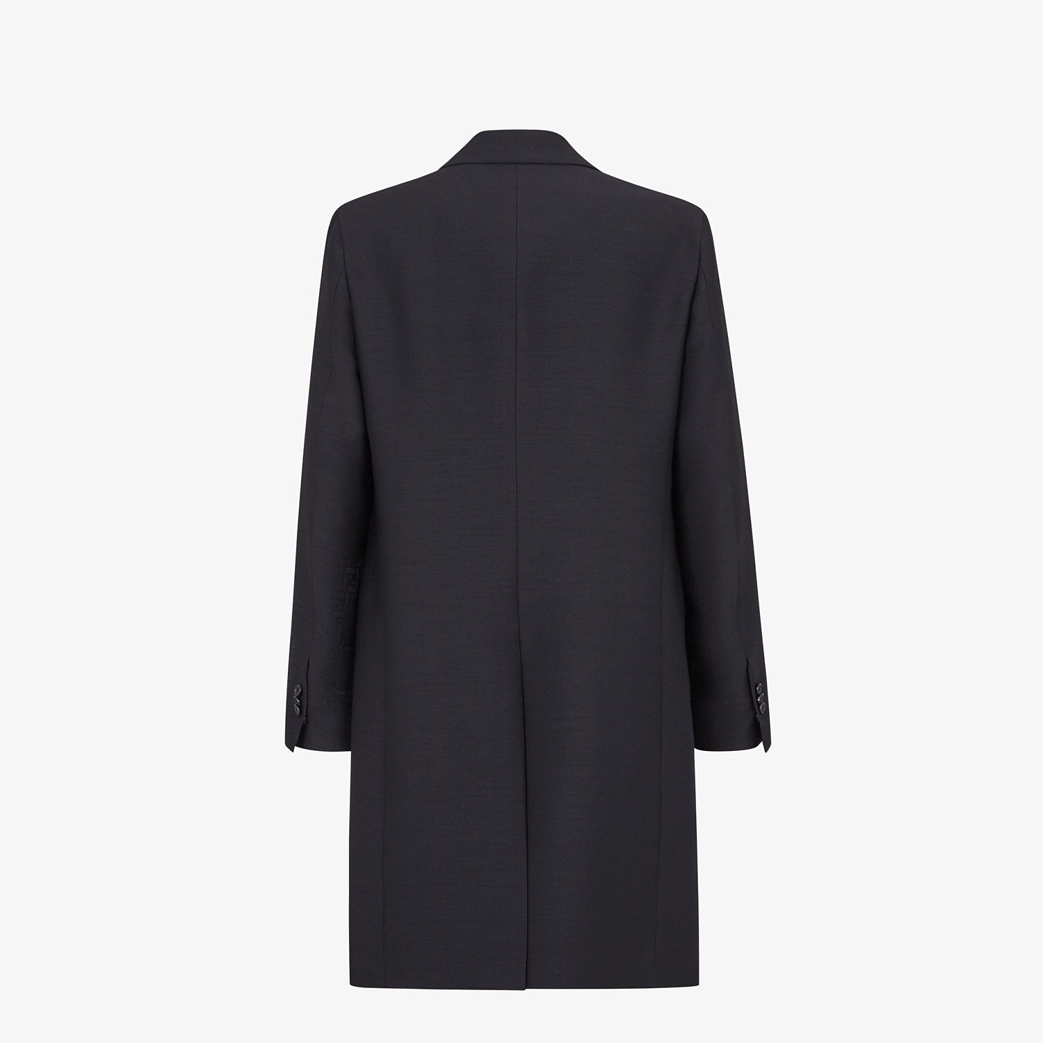 FENDI COAT - Black wool coat - view 2 detail