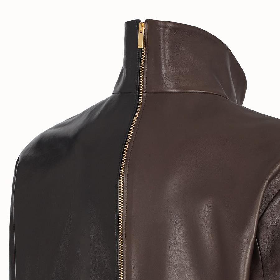 FENDI JACKET - Multicolour leather jacket - view 3 detail