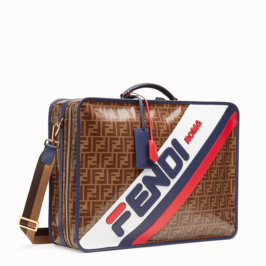 FENDI LUGGAGE - Brown fabric suitcase - view 2 detail