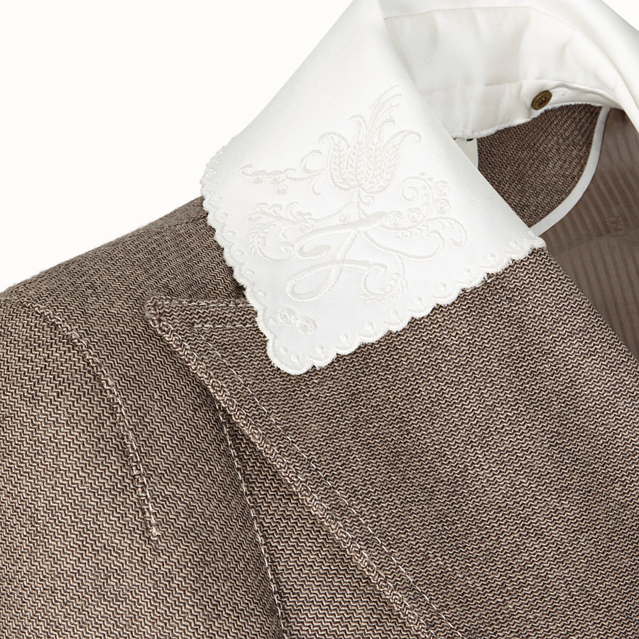 FENDI OVERCOAT - Grisaille fabric outerwear - view 3 detail