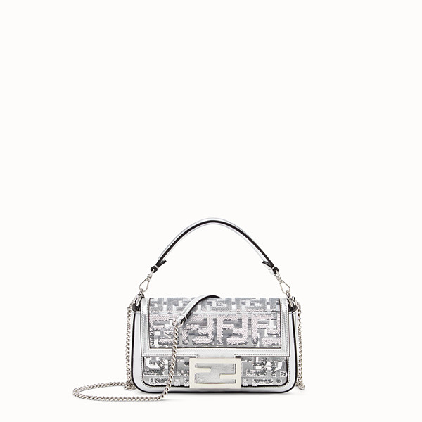 FENDI BAGUETTE MINI - Borsa Fendi Prints On in PU - vista 1 thumbnail piccola