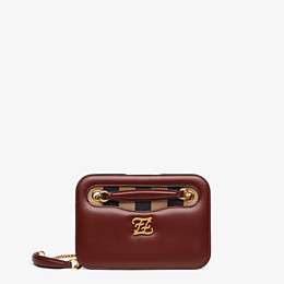 FENDI KARLIGRAPHY POCKET - Brown leather bag - view 1 thumbnail