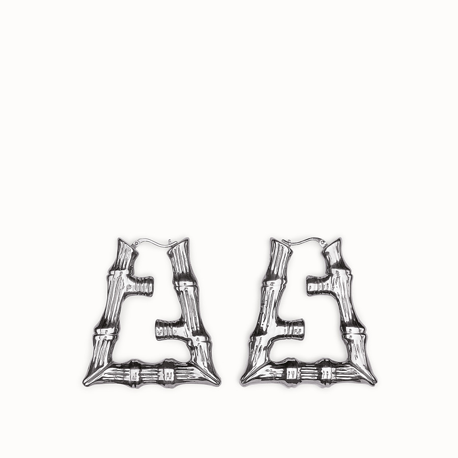 FENDI FENDI PRINTS ON EARRING - Palladium-colored earring - view 1 detail