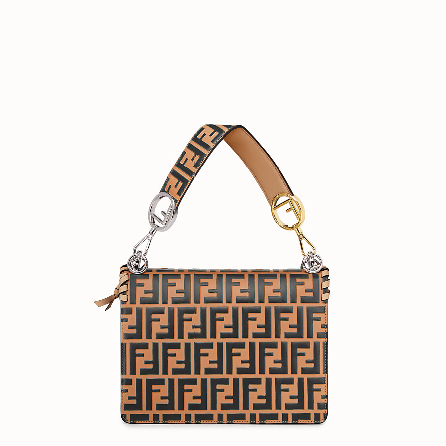 FENDI KAN I F - Brown leather bag - view 3 detail