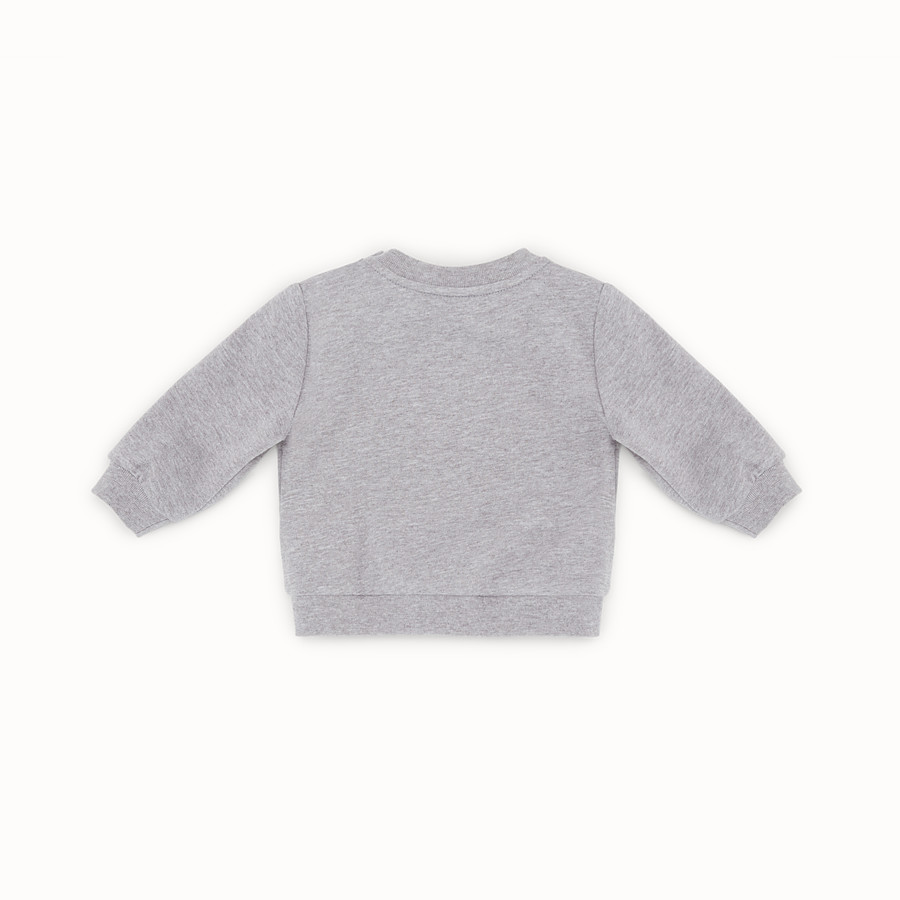 FENDI SWEATSHIRT - Melange grey cotton sweatshirt - view 2 detail