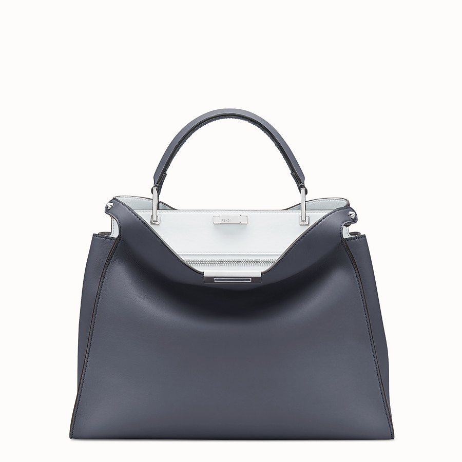 FENDI PEEKABOO ESSENTIAL - 藍色皮革手袋 - view 1 detail