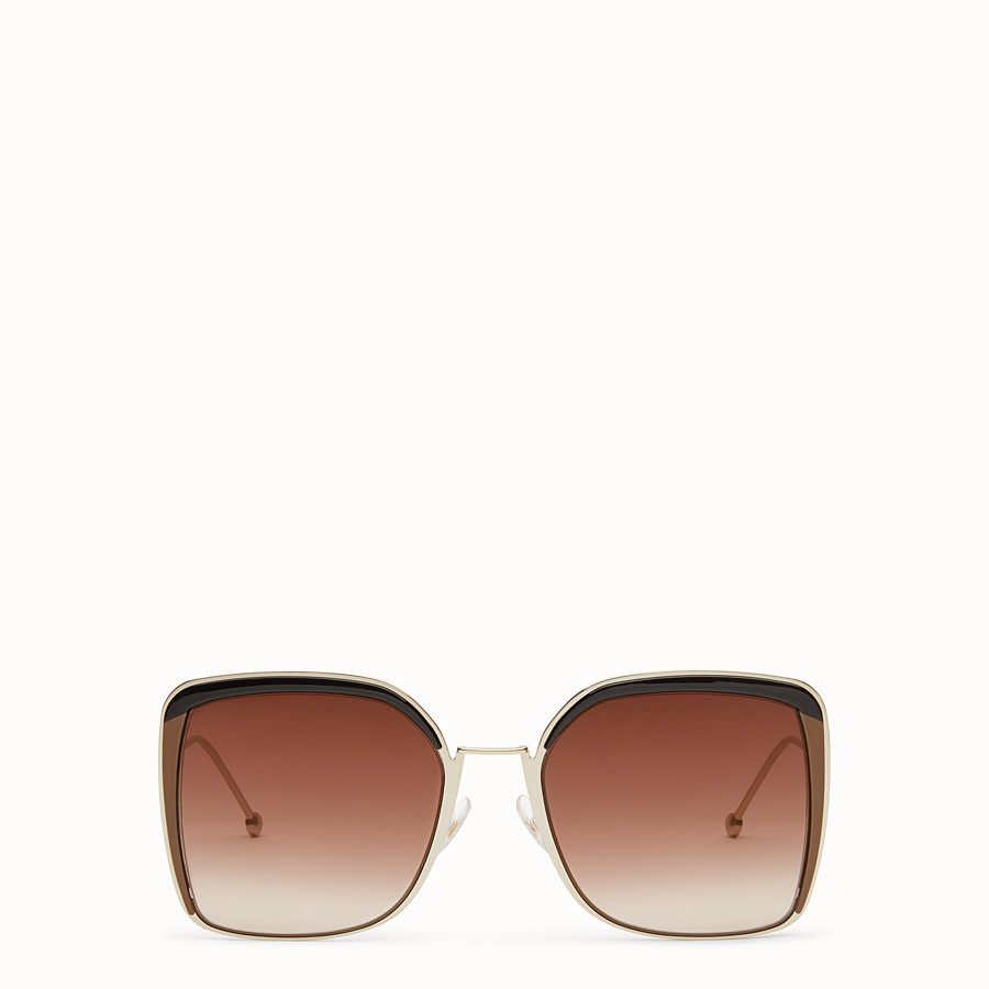 FENDI F IS FENDI - Gold-color sunglasses - view 1 detail