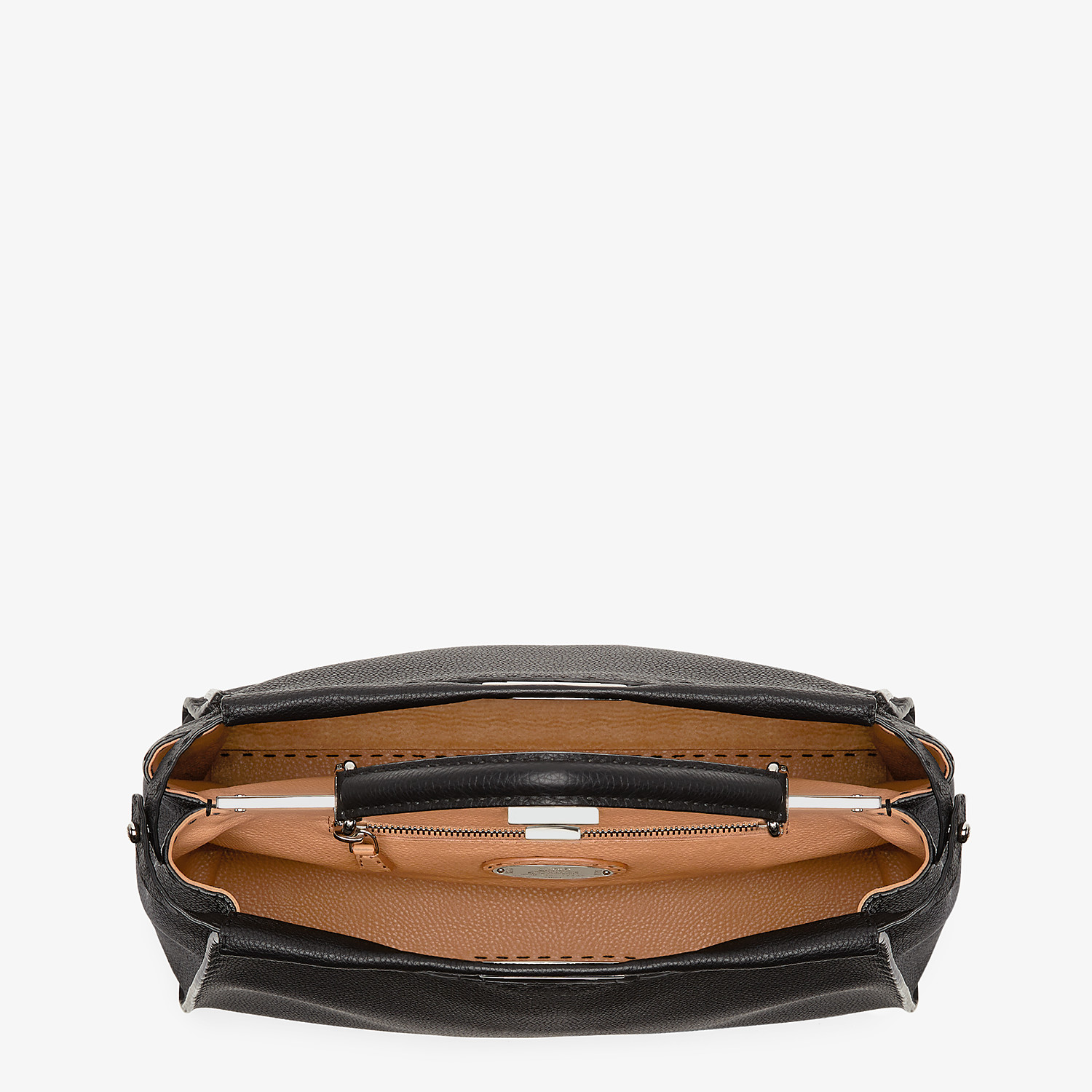 FENDI PEEKABOO ICONIC LARGE - Black leather handbag - view 5 detail