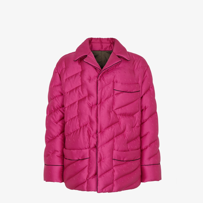 FENDI JACKET - Fuchsia silk jacket - view 1 detail