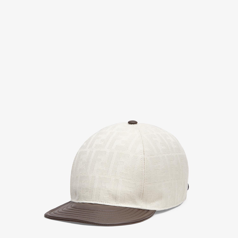 FENDI HAT - White canvas baseball cap - view 1 detail